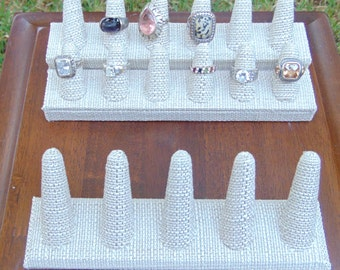 Linen Ring Display - Ring Holder - Ring Display - Jewelry Displays - Jewerly Props - Ring Organizer