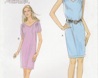 Simple Shift Dress Pattern Vogue 8647 Sizes 8 - 14 Uncut