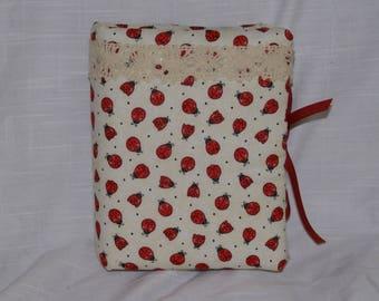 Handmade Padded  Fabric Lady Bug Photo Album
