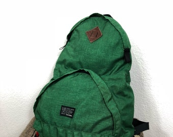 70's vintage BIG-JOHN backpack day pack green color