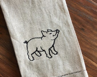THIS LITTLE PIGGY Tea Towel
