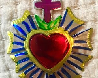 Mexican Tin Folk Art - Heart Design