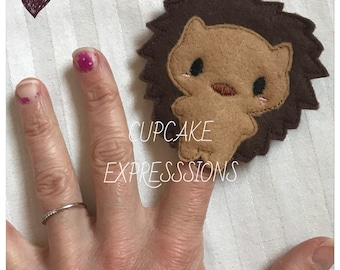 Cute Porcupine Finger Puppet - Quiet Time Play Toy - Imaginative Play - Woodland Forest Animal - Can Choose Custom Colors