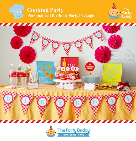 Cooking Party Kit Little Chef Girls Birthday Party Package