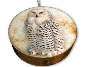 White Owl 2 Round Wood Fan / Light Pull