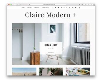 Claire Modern Plus - Modern Wordpress Blog Theme - Responsive Design - Minimalist Fashion Photography Blog - Shop - Gallery - Customisable