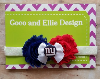 new york giants headband/ny giants girl/new york giants baby/ny giants baby shower gift/new york giants newborn/ny giants baby/baby ny giant