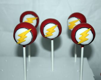 The Flash Themed Cake Pops