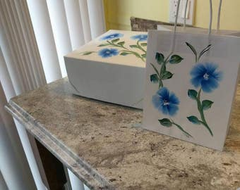 Hand painted Gift Boxes or Gift bags.