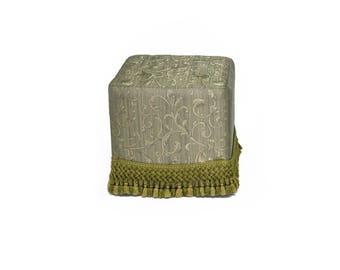 Art deco Pouf - Ottoman - Additional Sitting -Upholstered - Floor Sitting