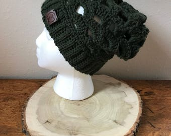 Forest Green Slouch Beanie. Slouch Beanie Women. Slouch Beanie Men. Slouchy Hat. Slouchy Beanie Women. Slouch Hat. Ready to Ship.