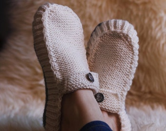 All Seasons Slippers -Knitting  Pattern.