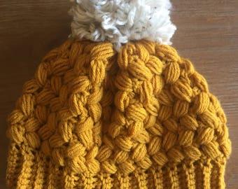 Charleston Crochet Winter Hat- Newborn to Adult