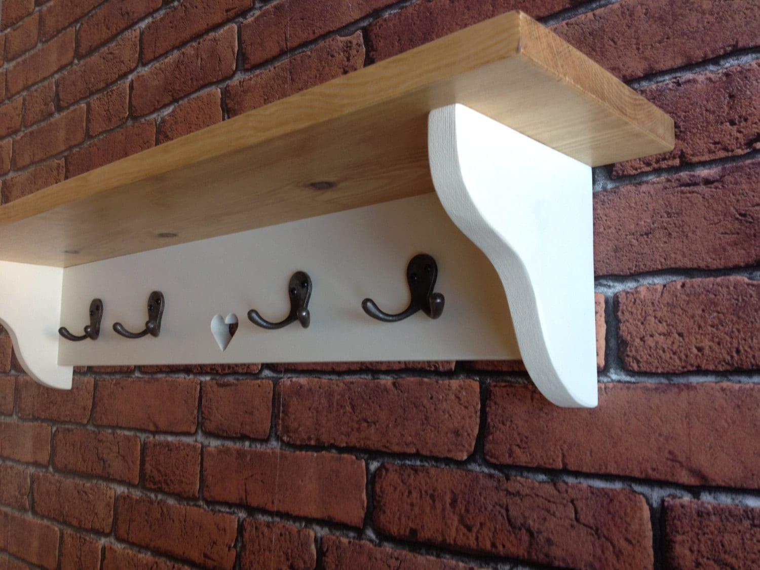 fullxfull rack shelf wall coat wood products with il rustic
