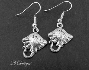 Sting Ray Earrings Sterling Silver