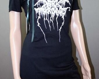 Darkthrone Black Metal Off Shoulder Lace Dress