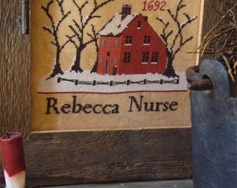 Primitive cross stitch pattern: Rebecca Nurse
