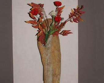 Wall Sconce in Driftwood & flowers