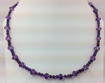 Amethyst bead necklace.