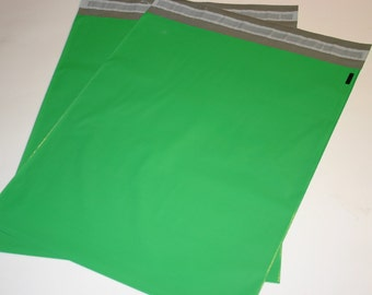 50 12x15.5 Poly Mailers GREEN Self Sealing Envelopes Shipping Bags Spring Easter Christmas