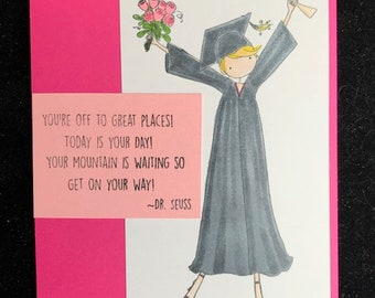 You're Off To Great Places Graduation Greeting Card