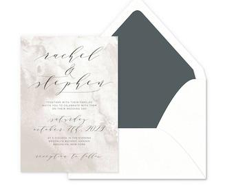Modern Stone Wedding Invitations