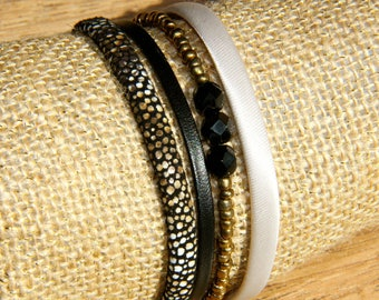CUFF BLACK AND GOLD