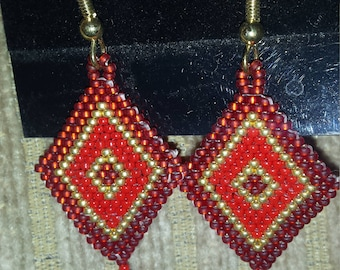 Diamond Brick Stitch Earrings
