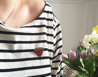 Pretty pin watermelon - Hand Made - La Rochelle
