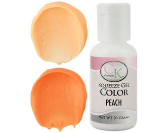 Peach CK Gel Paste Food Coloring - high quality food coloring for icing, frosting, cookie dough and more