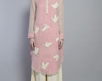 Scattered swan tunic
