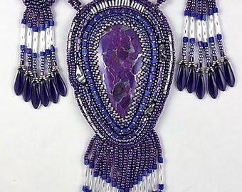 Purple Mohave Trio necklace