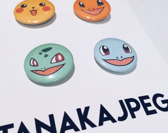 "1"" Pokemon Pins"