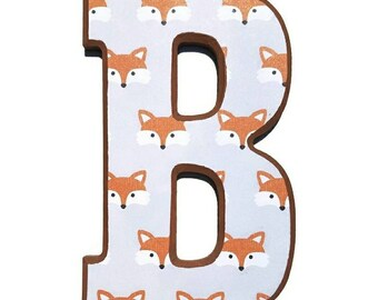 Fox Nursery Letters // Price per letter // woodland letters // Fox Letters