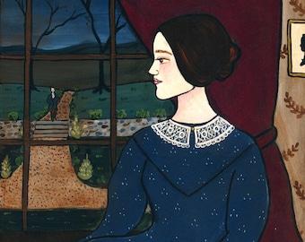 Jane Eyre print 8x10 literary art