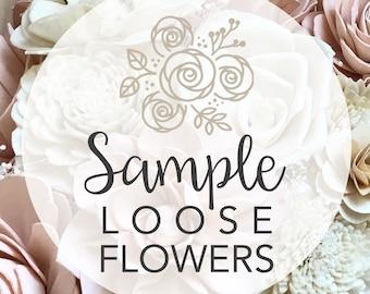 SAMPLE Loose Flowers - Wooden Flower Bouquet - Sola Flower Bouquet - Wedding - Bridesmaid - Rustic - Chic - Classic