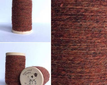 Rustic Moire Wool Thread #273 for Embroidery, Punch Needle Embroidery, and Wool Applique