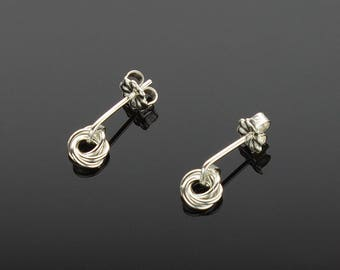 Handmade Chainmaille Button Post Earrings