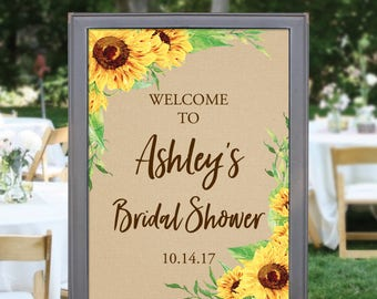 Custom Welcome Sign - Sunflower Wedding Welcome Sign - Bridal Shower Welcome Sign - Baby Shower Welcome Sign - Sunflowers - Print or Digital
