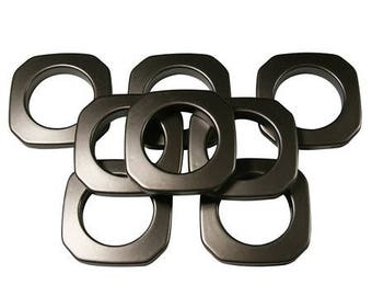 "Square #10 Plastic, 1 3/8"", 8 Sets, Ant Copper"