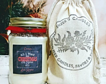 Christmas Candle Gifts - Christmas For Boyfriend - Christmas For Girlfriend - Christmas Gift For Him - Christmas Gift For her