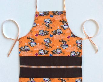 Kids Handmade Apron, Play Apron, Child Apron, Toddler Apron, Kids Party Apron, Little Girl Boy Apron, Kids Pinny