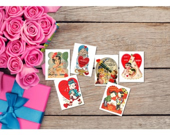Set of 9 Children Valentine Cards Animals Customizable - Printable Digital Download