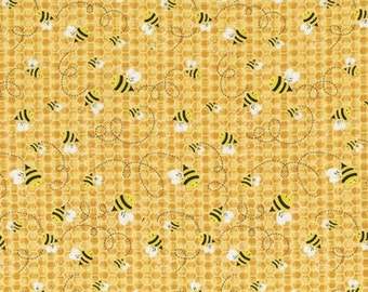Bumble Bees Cotton Fabric