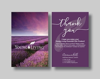 Young Living Essential Oils Note Card (Sunset Vertical) - Digital File