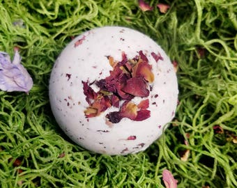 AMBROSIA Spellbomb - Made with Organic Ingredients- Organic Bath Bomb - Triple Butter Formula - Floral - Fruity - Aura Cleanse
