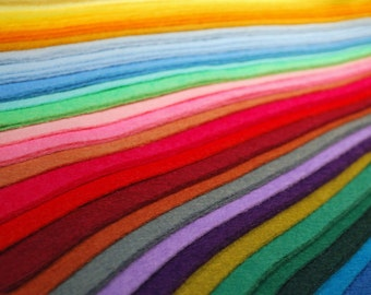"Premium Wool Blend Felt Sheets - 9"" X 12"", Over 30 Colours and Multiple Pack Sizes Available"