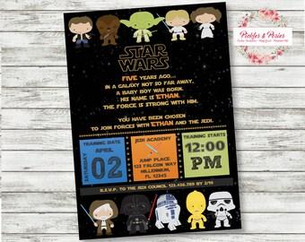 Star Wars Birthday Invitations - Star Wars Party Custom Birthday Invitation - Starwars Invitations - Printable Download