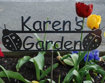 Mother's Day - Custom Name Garden Sign with YOUR NAME Personalized - 17 Design Styles to choose from