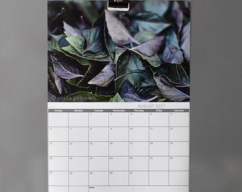 Wall calendar 2018 Monthly planner with hanging gear magnetic clip Write in 12 months large calendar daily to-do list space